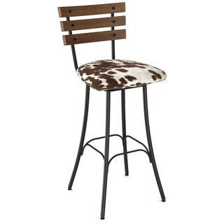 Carbon Loft Montgolfier Swivel Metal and Wood Barstool (4 options available)
