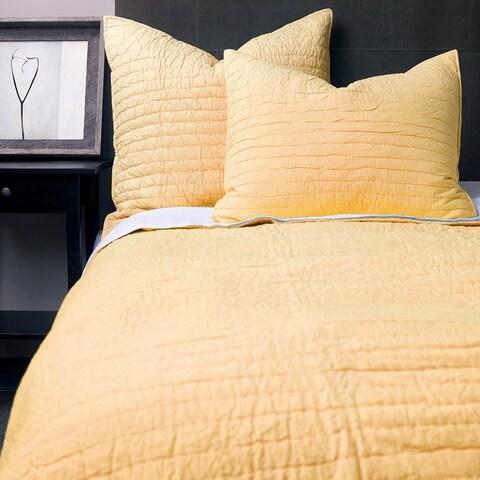 Basic Cotton Yellow Quilt Set