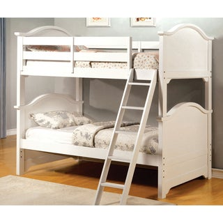 Furniture of America Ashlee Classic Arched White Bunk Bed