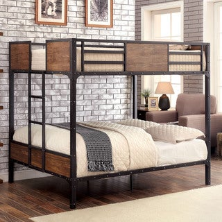 Furniture of America Markain Industrial Metal Bunk Bed