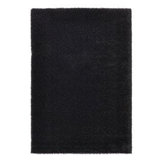 Somette Slater Collection Black Solid Area Rug (5.3' x 7.7')