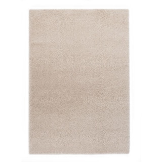 Somette Slater Collection Beige Solid Area Rug (5.3' x 7.7')