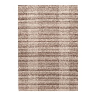Somette Lockwood Collection Tan Striped Area Rug (5.3' x 7.7')