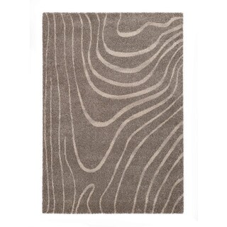 Somette Lockwood Collection Light Grey Abstract Area Rug (5.3' x 7.7')