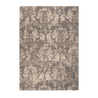 Somette Marion Collection Beige Floral Area Rug (5.3' x 7.7')
