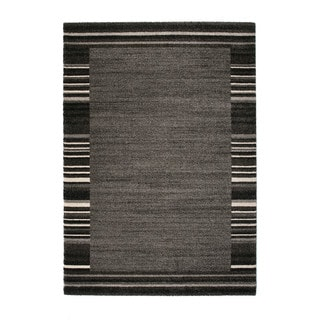 Somette Marion Collection Grey Border Area Rug (5.3' x 7.7')