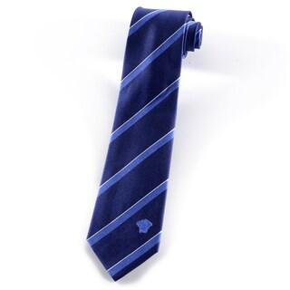 Versace 100-percent Italian Silk Blue Stripes Neck Tie