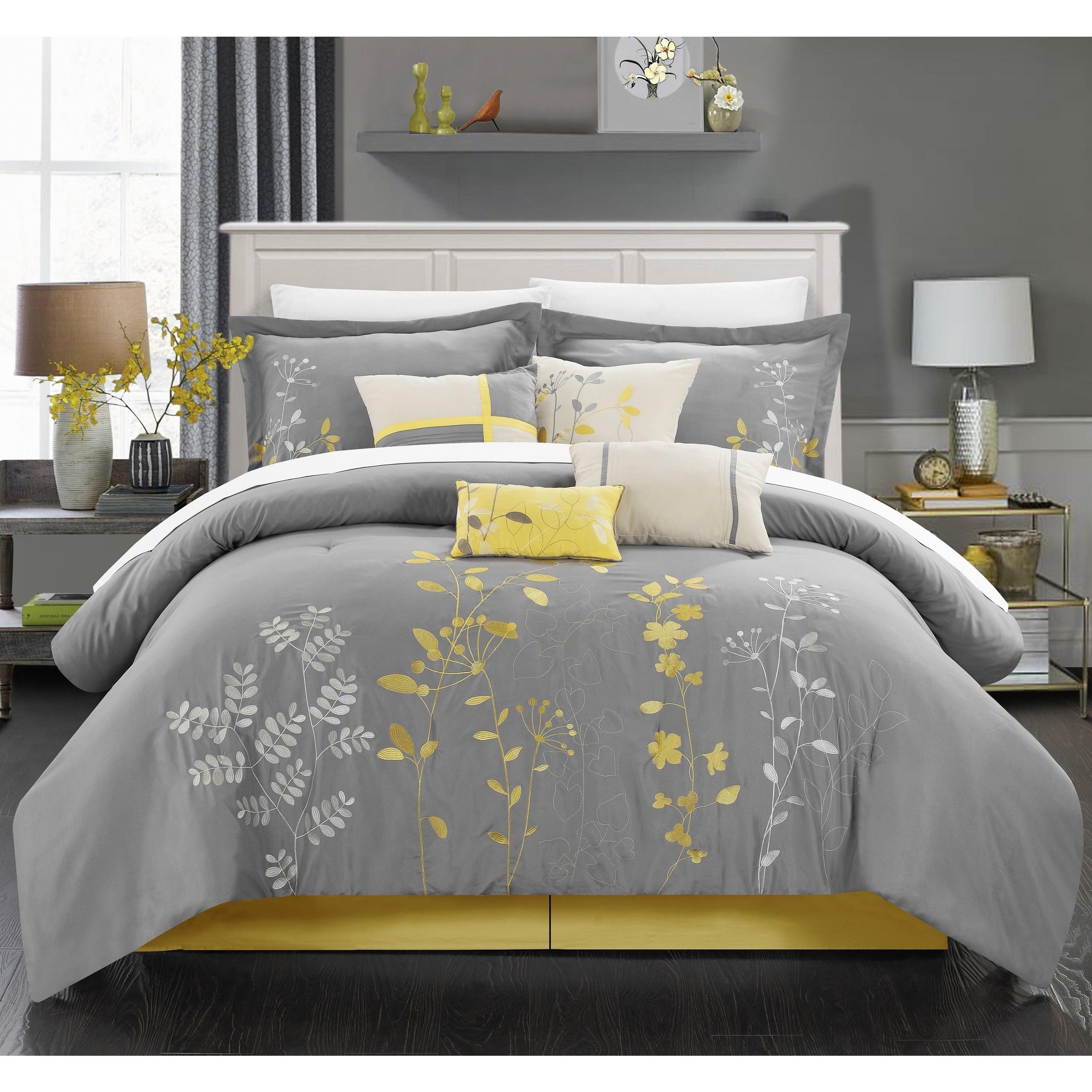 Porch Den Holly Grey 8 Piece Comforter Set On Sale Overstock 21426652