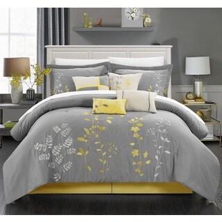 Porch & Den Holly Grey 8-piece Comforter Set