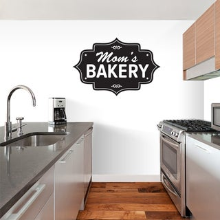 Mom's Bakery Kitchen Wall Decal 12-inch wide x 8-inch tall