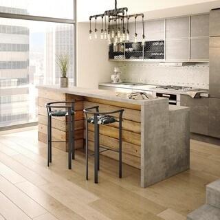 Clay Alder Home Kane Dark Modern Metal Kitchen Barstool