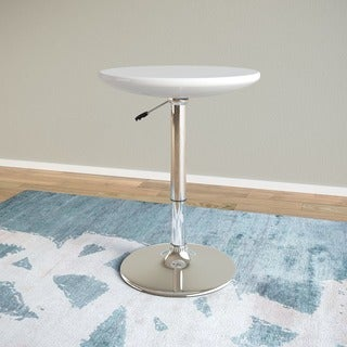 Adjustable Height Glossy Finish Round Bar Table