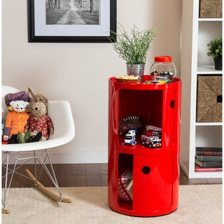 Somette Gavins Room Large Red 2-Compartment Storage Unit
