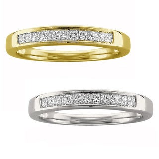Montebello 14k Yellow or White Gold 1/4ct TDW Certified White Diamond Wedding Band (I-J, VS2)