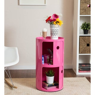 Somette Gavins Room Large Pink 2-Compartment Storage Unit