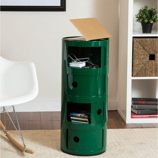 Somette Gavins Room Green 4-Compartment Storage Unit