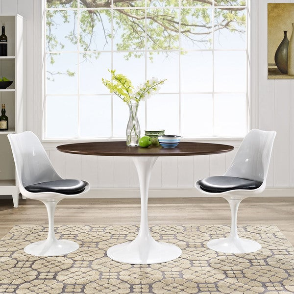 Shop Lippa OvalShaped Walnut Dining Table Free Shipping Today - 48 inch oval dining table