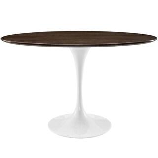 "Lippa 48"" Oval-Shaped Walnut Dining Table"
