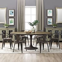 Shop Ink Ivy Mercer Bronze Oval Dining Table Free
