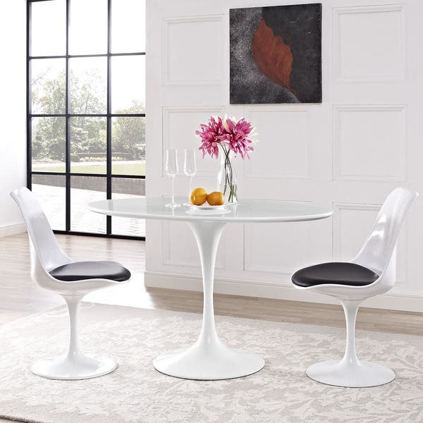 Lippa 48 Oval Shaped Wood Top Dining Table On