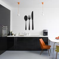 Spoon Fork Knife Wall Decal 20-inch wide x 40-inch tall