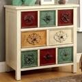 Furniture of America Floresta Antique White 3-drawer Hallway Cabinet