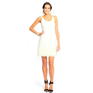 Sara Boo Women's White Lace Fringe Dress