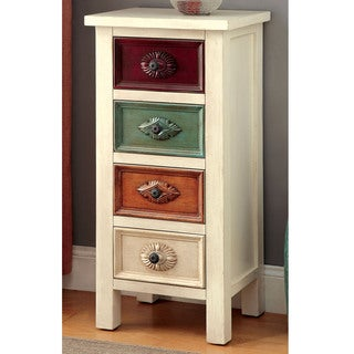 Furniture of America Floresta Antique White 4-drawer Hallway Cabinet