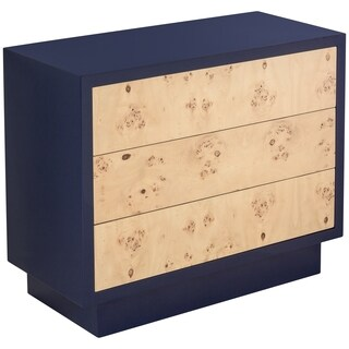 Safavieh Couture High Line Collection Harding Navy Lacquer 3-Drawers Storage Chest