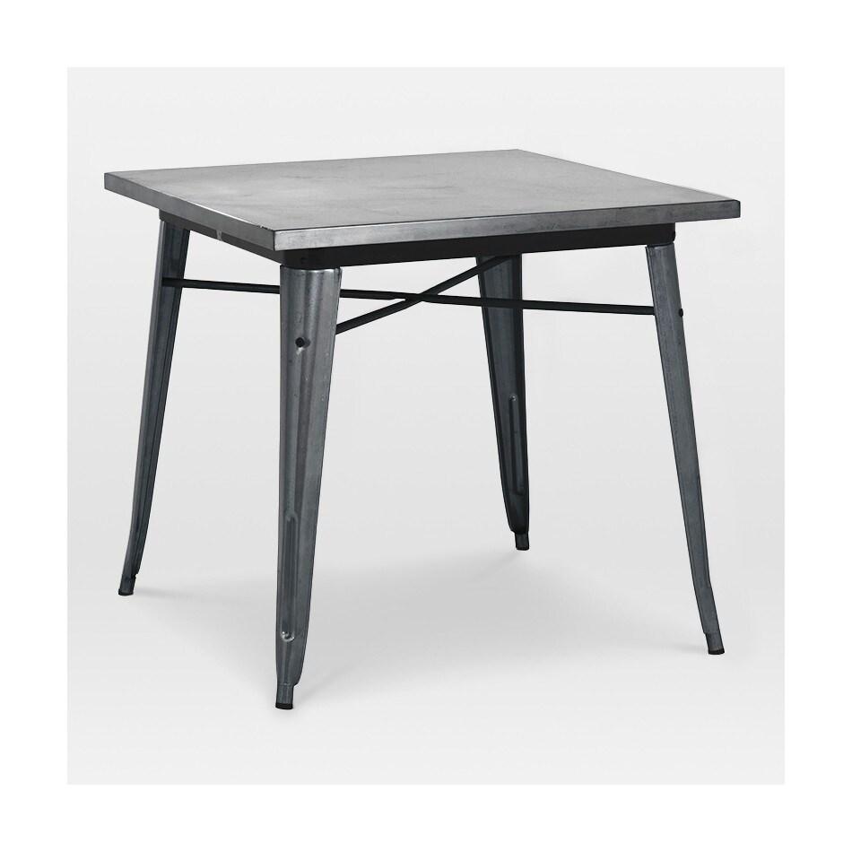 Amalfi Dark Gunmetal Steel Dining Table 30 Inch Grey