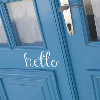 Hello Wall Decal 24-inch wide x 12-inch tall