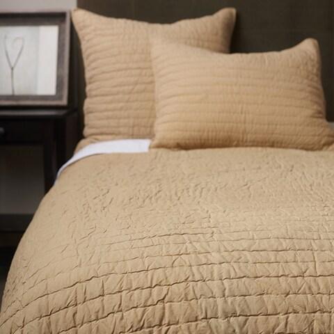 Beige Basic Cotton Quilt Set