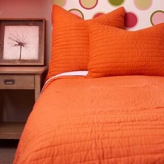 Basic Cotton Orange Quilt Set