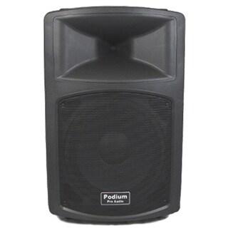 Podium Pro PP1203A Active 600 Watts DJ PA Karaoke Powered 12-inch Speaker w/ RCA Connections