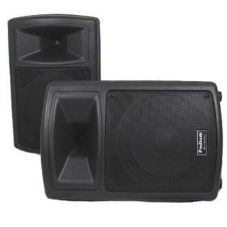Podium Pro PP1003A Pair of Karaoke DJ Band PA Powered Active 10-inch Pro Audio 1000W Speakers PP1003A-PR