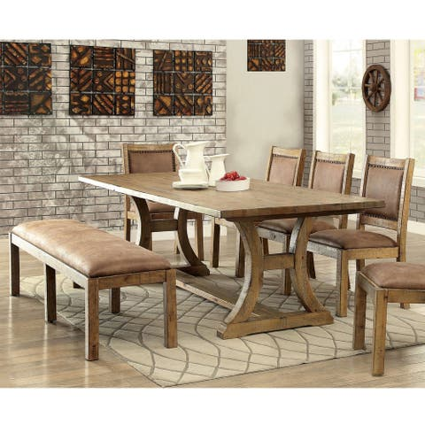 Furniture of America Sail Industrial Pine 6-piece Dining Set