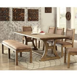 Furniture of America Matthias Industrial 6-piece Rustic Pine Dining Set|https://ak1.ostkcdn.com/images/products/11149917/P18147485.jpg?impolicy=medium