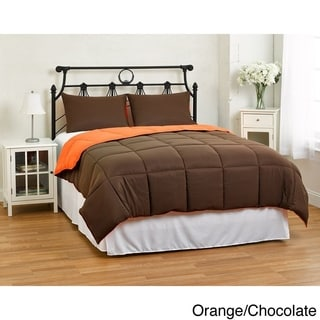 Contemporary Modern All-Season Reversible Comforter Set with Two Hypoallergenic Shams