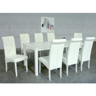 Warehouse of Tiffany Dita 9-piece White Dining Set