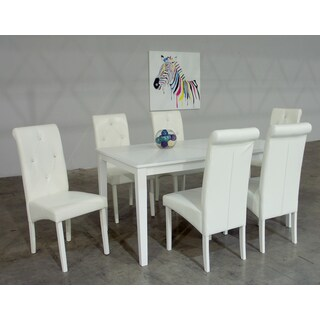 Warehouse of Tiffany Dita 7-piece White Dining Set