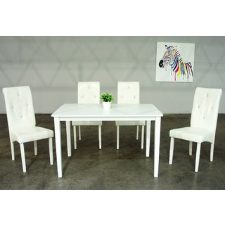 Warehouse of Tiffany Dita 5-piece White Dining Set