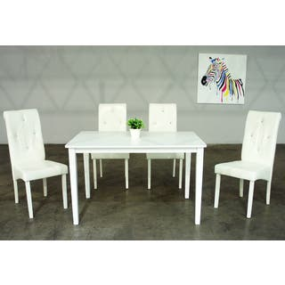 Warehouse of Tiffany Dita 5-piece White Dining Set|https://ak1.ostkcdn.com/images/products/11149974/P18147548.jpg?impolicy=medium