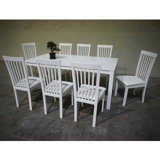 Warehouse of Tiffany Megan 9-piece White Dining Set
