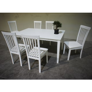 Warehouse of Tiffany Megan 7-piece White Dining Set