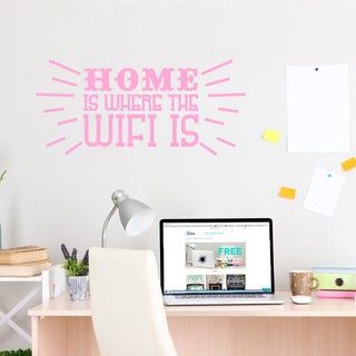 Home Is Where The Wifi Is Wall Decal 36-inch wide x 17-inch tall