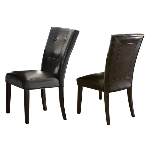 Faux Leather Parsons Dining Room Chairs: Shop Greyson Living Malone Faux Leather Parsons Dining Chair (Set Of 2)