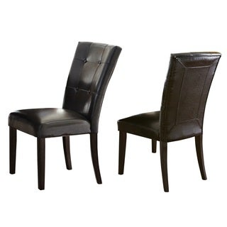 Greyson Living Malone Faux Leather Parsons Dining Chair (Set of 2)