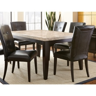 Greyson Living Malone 70-Inch Marble Top Dining Table - Espresso
