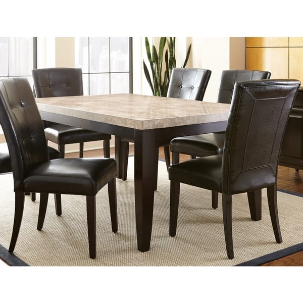 Greyson Living Malone 70 Inch Marble Top Dining Table Espresso
