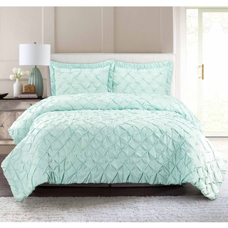 Pur Luxe Pintuck 3-piece Quilt Set (4 options available)